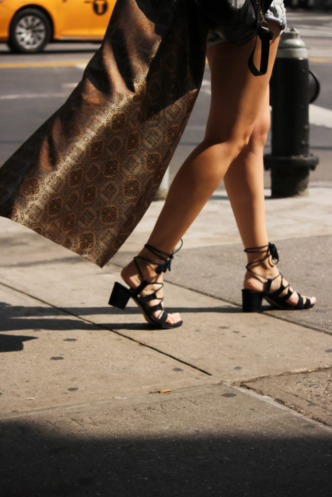 Sandals and cape