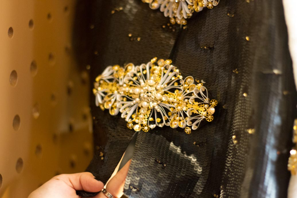 Broches and sequins